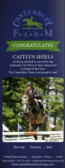 Congratulations Caitlyn Shiels!