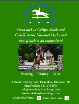 Good Luck Caitlyn + Cydelle at the Chicago Hunter Derby!!!!