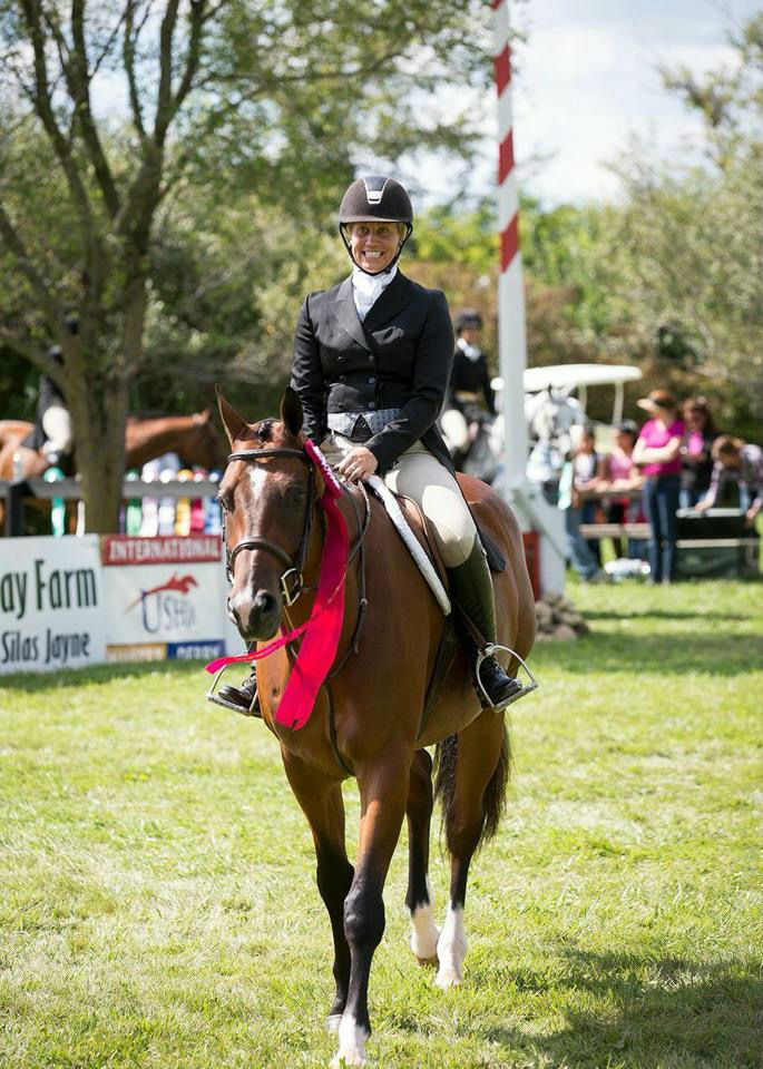 Caitlyn Shiels finished 12th overall with Michelle Durpetti's Small Enchantment in last year's $50,000 USHJA International Hunter Derby presented by Canadian Pacific.