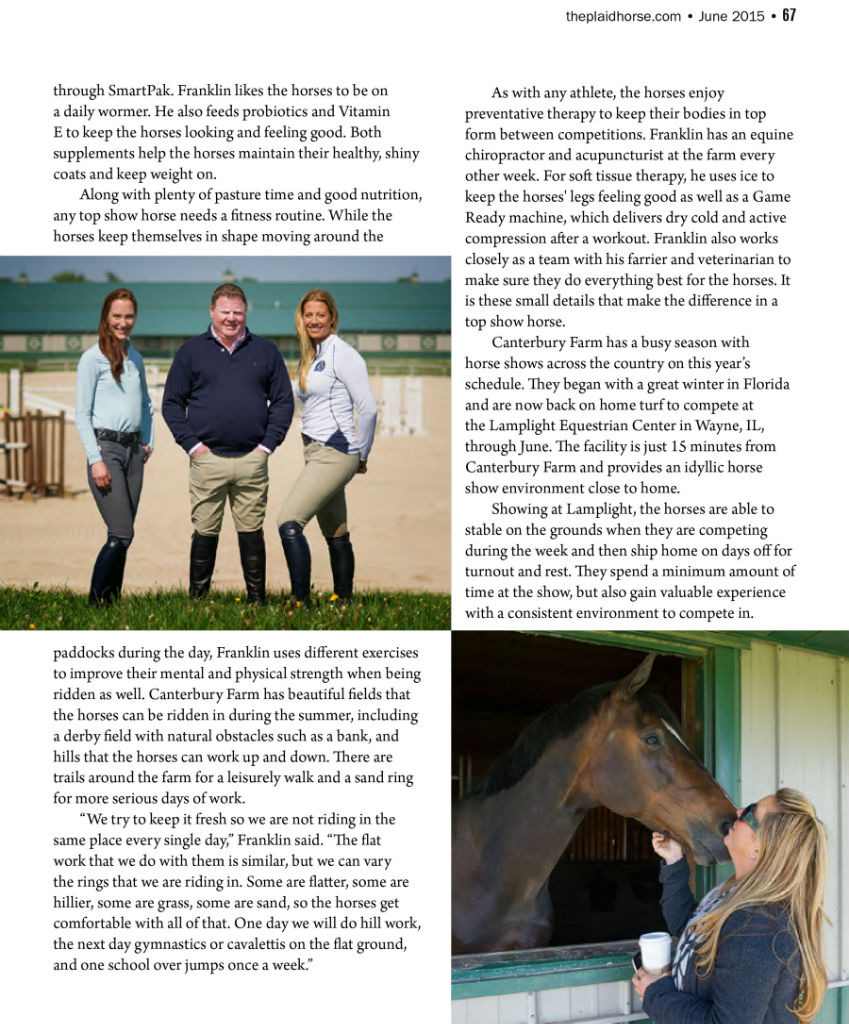 Canterbury Farm in The Plaid Horse June 2015
