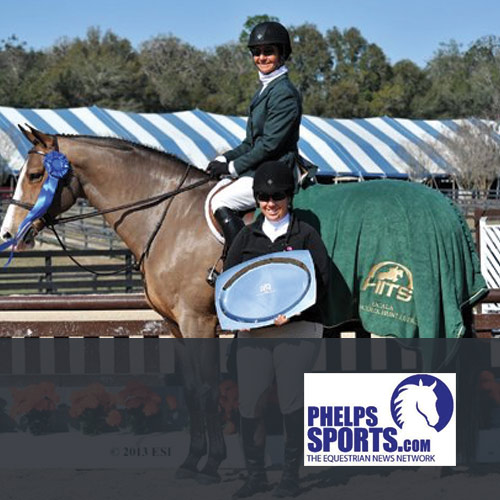 2.3.13: Patty Stovel Tops Her First $5,000 Devoucoux Hunter Prix of the HITS Ocala Season With Kenya